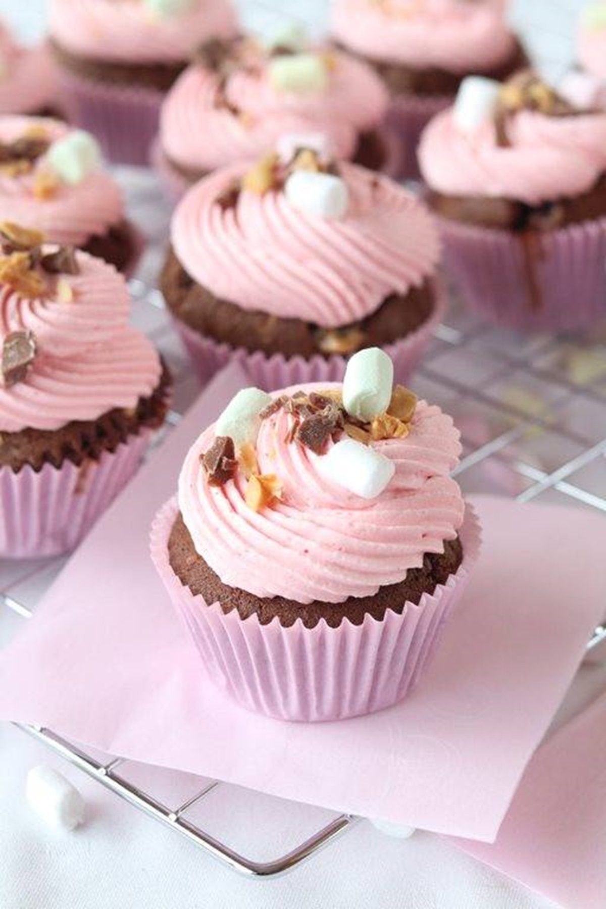recipe image Rocky Road Cupcakes
